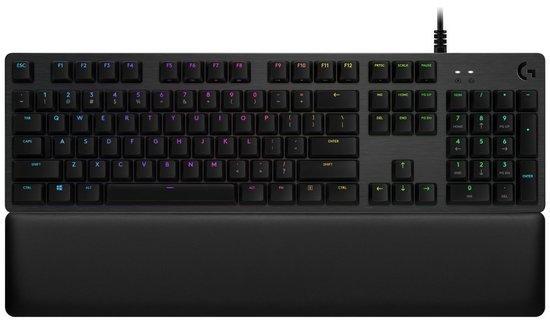 Logitech herní klávesnice G513 LIGHTSYNC RGB/ mechanická/ GX Red/ USB/ US layout/ Carbon, 920-009340