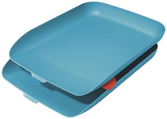 Odkladač na dokumenty s organizérem Leitz Cosy set 2 ks klidná modrá, 53581061