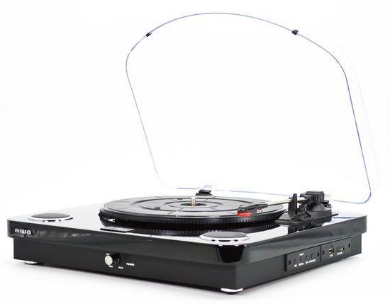 AIWA GBTUR-120BK/ Gramofon/ BT/ USB/ SD/ Černý