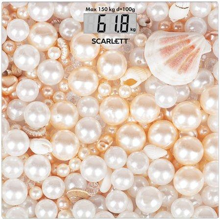 Scarlett Osobní váha digitální, nosnost 150 kg, materiál desky sklo.