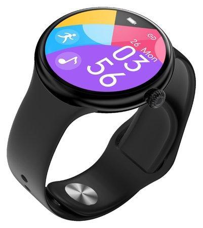 """IMMAX chytré hodinky Lady Music Fit/ 1,1"""" LCD/ MT2502D/ BT 4.2/ IP67/ Android 4.0/ iOS 8.0/ dámské/ čeština/ černé"""