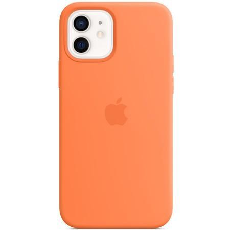 Apple silikonový kryt s MagSafe na iPhone 12 mini kumkvatově oranžový