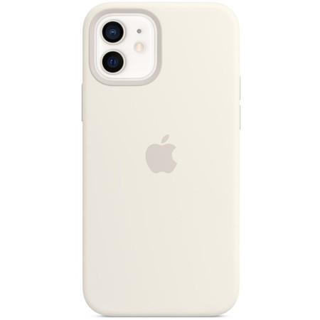 Apple silikonový kryt s MagSafe na iPhone 12 a iPhone 12 Pro bílý