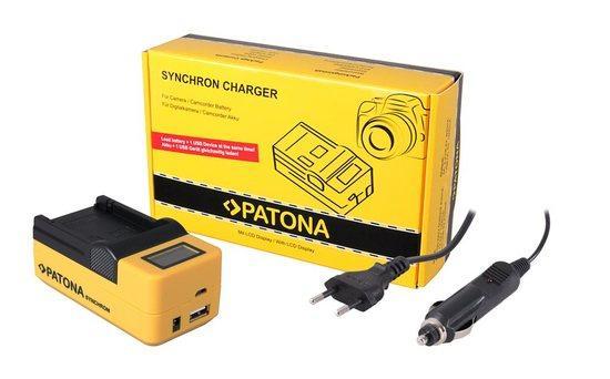 PATONA nabíječka foto Synchron Nikon EN-EL19 230V/12V, LCD+USB