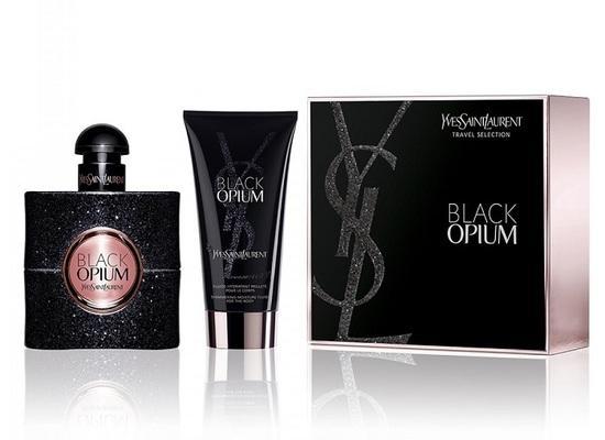 Yves Saint Laurent Black Opium parfémovaná voda Pro ženy 50ml + tělová emulze se třpytkami 50ml
