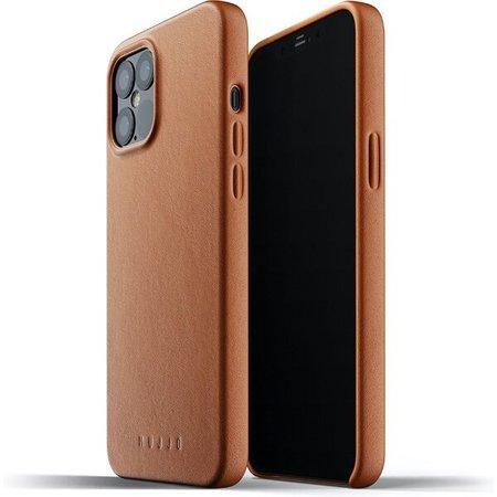 Levně Mujjo Full Leather kryt Apple iPhone 12 Pro Max žlutohnědý
