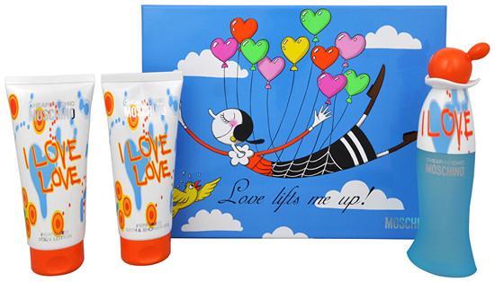 Moschino Cheap & Chic I Love Love - EDT 50 ml + sprchový gel 100 ml + tělové mléko 100 ml