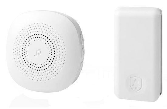 NEDIS sada bezdrátového domovního zvonku/ napájení ze sítě/ vysílač s vlastním napáj./ 36 melodií/ d
