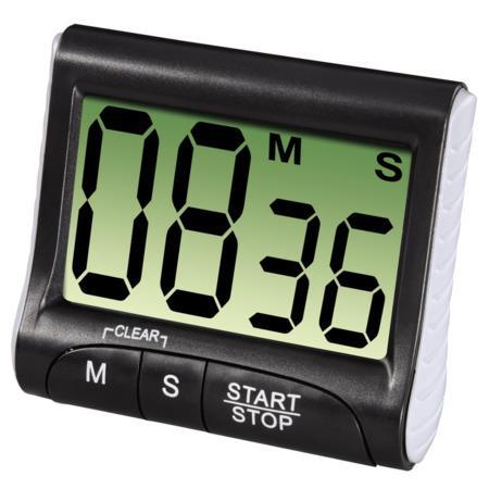Xavax Countdown, digitální kuchyňská minutka, černá