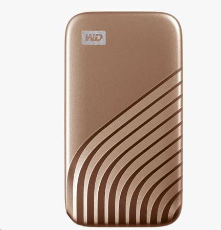 SanDisk WD My Passport SSD externí 1TB , USB-C 3.2 ,1050/1000MB/s R/W PC & Mac ,Gold, WDBAGF0010BGD-WESN