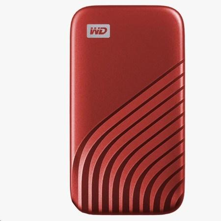 SanDisk WD My Passport SSD externí 1TB , USB-C 3.2 ,1050/1000MB/s R/W PC & Mac ,Red, WDBAGF0010BRD-WESN
