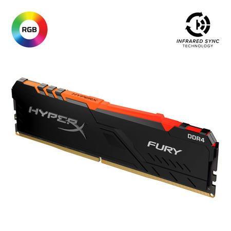 Kingston DDR4 16GB HyperX FURY DIMM 3200MHz CL16 černá, HX432C16FB4A/16