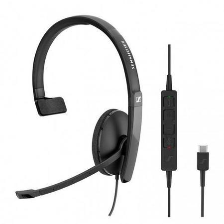 SENNHEISER SC 130 USB-C headset - jednostranná sluchátka s mikrofonem