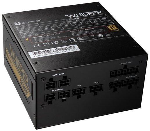 BitFenix zdroj Whisper M / ATX / 450W / 80 Plus Gold / active PFC / modulární