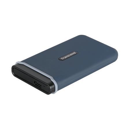 Transcend ESD370C 500GB USB 3.1 Gen2 (USB-C) Externí Anti-Shock SSD disk (3D TLC), 1050MB/R, 950MB/W, modrý, TS500GESD370C