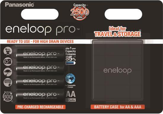PANASONIC-ENELOOP HR6 AA 3HCDE/4BE CASE ENELOOP PRO