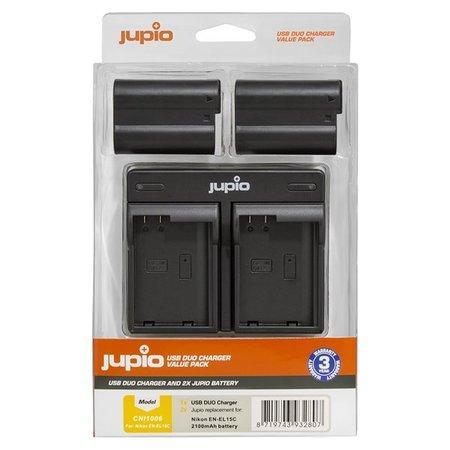Set Jupio 2ks baterií EN-EL15C a duální nabíječky pro Nikon