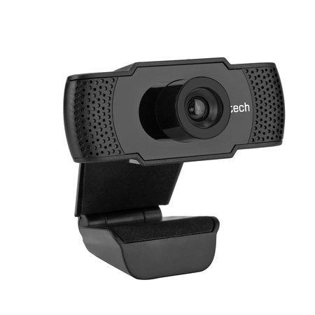 C-TECH webkamera CAM-07HD, 720P, mikrofon, černá, CAM-07HD