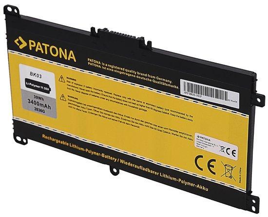 PATONA baterie pro ntb HP Pavilion X360 3400mAh Li-Pol 11,55V BK03 / BK03XL, PT2836