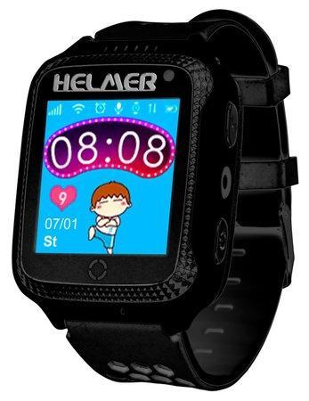 HELMER dětské hodinky LK 707 s GPS lokátorem/ dotykový display/ IP65/ micro SIM/ kompatibilní s Android a iOS/ černé