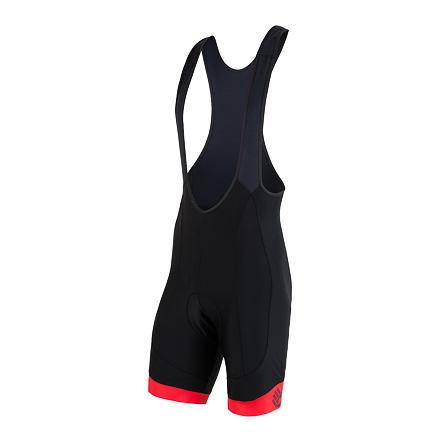 Levně SENSOR CYKLO RACE pánské kalhoty krátké se šlemi černá/červená Velikost: M