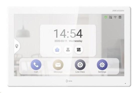 "HIKVISION DS-KH9510-WTE1, 10"" monitor (1024x600) pro videotelefon, Wifi, android aplikace, PoE, DS-K"