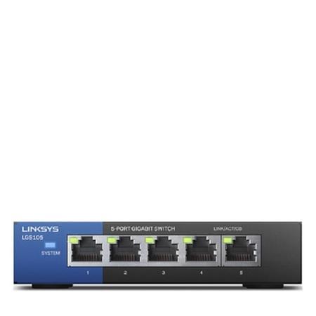 Linksys 5-Port Desktop Gigabit Switch (LGS105), LGS105-EU-RTL