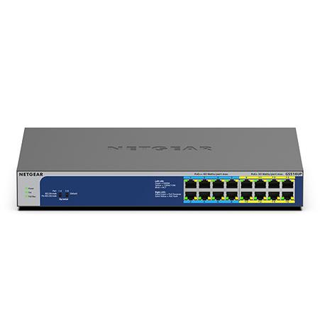 NETGEAR 16PT GE U60 POE++ UM SWITCH, GS516UP-100EUS