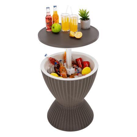 Tempo Kondela Zahradní chladící stolek, šedá, FABIR