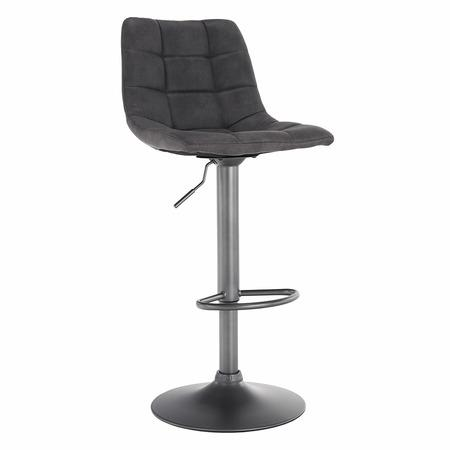 Tempo Kondela Barová židle, šedá / černá, LAHELA