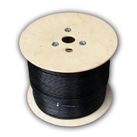 DATACOM S/FTP drát CAT7 PE,Fca 500m cívka, plášť černý OUTDOOR, 1217