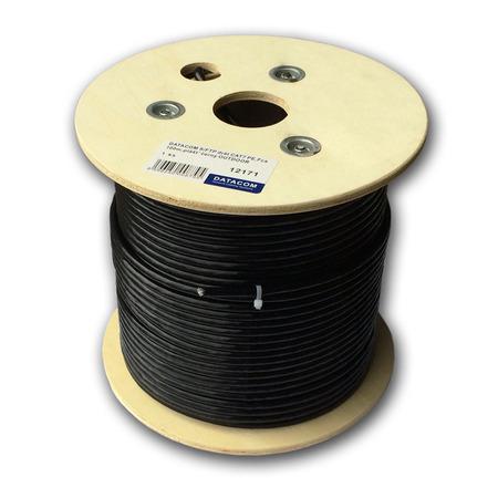 DATACOM S/FTP drát CAT7 PE,Fca 100m, plášť černý OUTDOOR, 12171