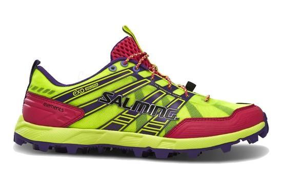 SALMING Elements Shoe Women Safety Yellow/Pink Glo, 3,5 UK - 36 EUR - 22,5 cm