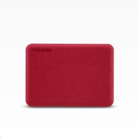 "TOSHIBA HDD CANVIO ADVANCE (NEW) 4TB, 2,5"", USB 3.2 Gen 1, červená / red"