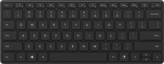 Microsoft Bluetooth Designer Compact Keyboard, Black, CZ&SK, 21Y-00014