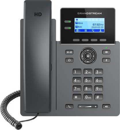"Grandstream GRP2602P SIP telefon, 2,21"" LCD podsv. displej, 4 SIP účty, 2x100Mbit port, PoE, GRP2602P"