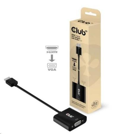Club3D Adaptér HDMI 1.4 na VGA (M/F), Active with audio