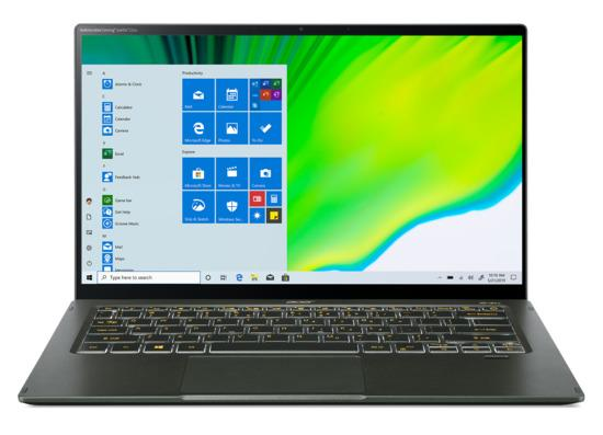 "ACER NTB Swift 5 AS - i7-1165G7@2.80GHz,16GB,1TBSSD,14"" touch FHD,backl,cam,USB3.2,USB Type-C,W10P,Zelená, NX.A6SEC.002"