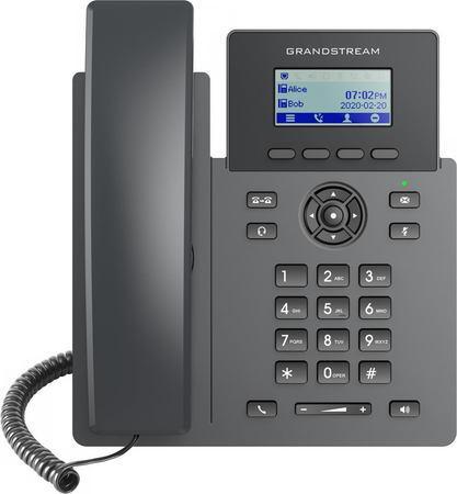 "Grandstream GRP2601P SIP telefon, 2,21"" LCD displej, 2 SIP účty, 100Mbit port, PoE, GRP2601P"