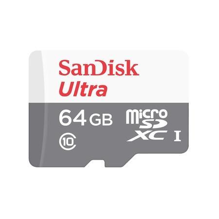 SanDisk MicroSDXC karta 64GB Ultra (80MB/s, Class 10, Android) + adaptér