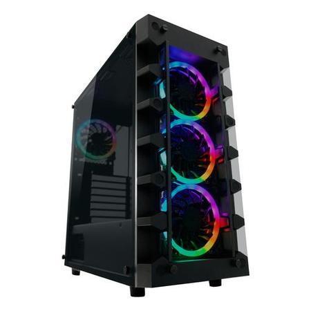 LC-POWER case Gaming 709B Solar_System_X Midi Tower, window, černá, LC-709B-ON