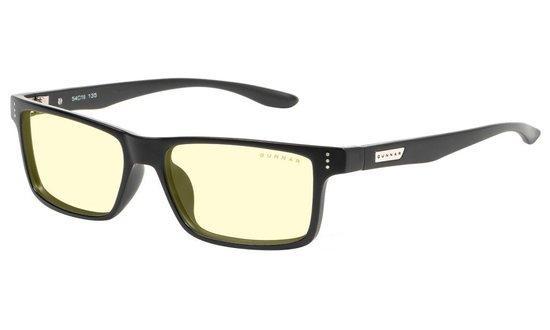 GUNNAR kancelářské dioptrické brýle VERTEX READER / obroučky v barvě ONYX / jantarová skla / dioptrie +2,0, VER-00101-2.0