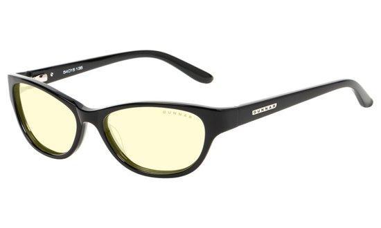 GUNNAR kancelářské dioptrické brýle JEWEL READER / obroučky v barvě ONYX / jantarová skla / dioptrie +1,5, JWL-00101-1.5