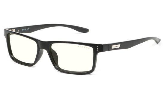GUNNAR kancelářské brýle VERTEX / obroučky v barvě ONYX / čírá skla, VER-00109