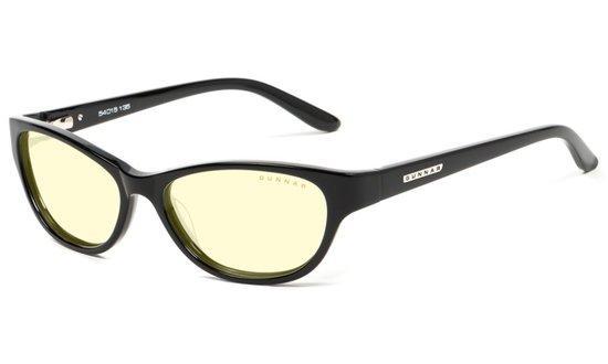 GUNNAR kancelářské brýle JEWEL / obroučky v barvě ONYX / jantarová skla, JWL-00101