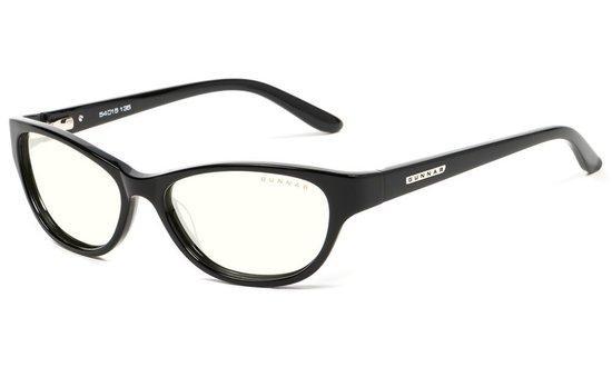 GUNNAR kancelářské dioptrické brýle JEWEL READER / obroučky v barvě ONYX / čirá skla / dioptrie +1,5