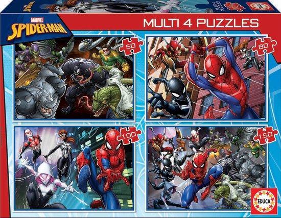 EDUCA Puzzle Spiderman 4v1 (50,80,100,150 dílků)