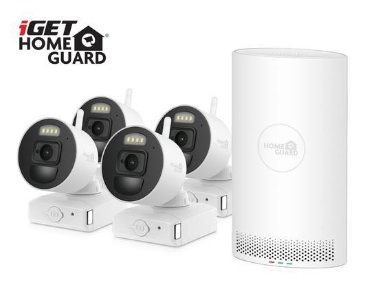 iGET HOMEGUARD HGNVK88004P - Wire-free FullHD NVR 8CH + 4x bateriová kamera HGNVK686CAMP