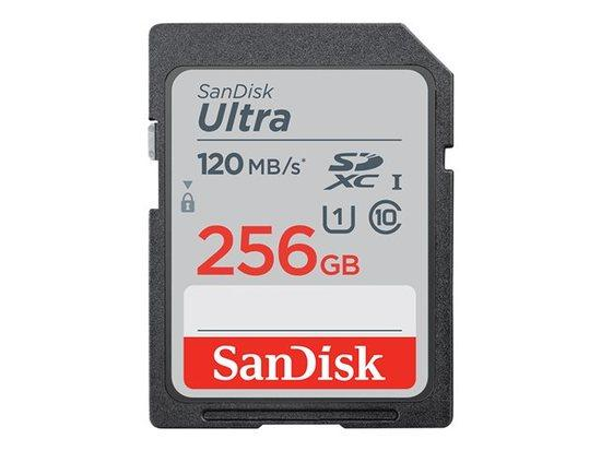 SANDISK Ultra 256GB SDXC Memory Card 120MB/s