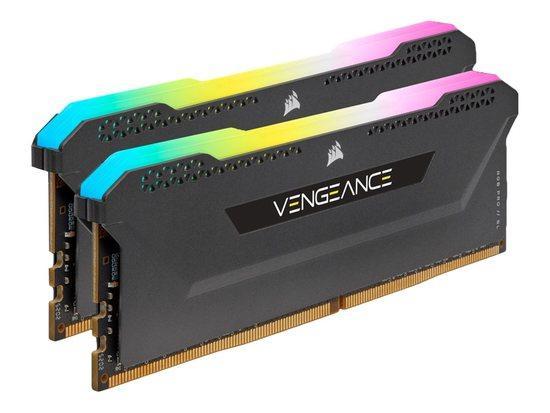 CORSAIR 16GB=2x8GB DDR4 3600MHz VENGEANCE RGB PRO SL BLACK s RGB LED CL18-22-22-42 1.35V XMP2.0 (RGB LED, 16GB=kit 2ks 8GB s černým chladičem)